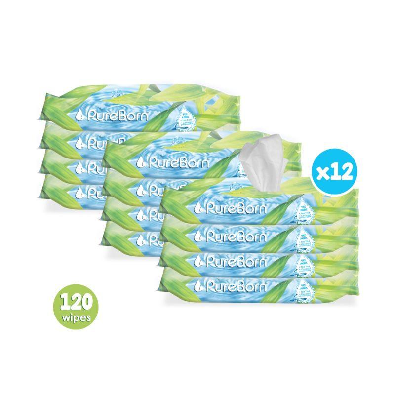 Tea Tree Wipes Q-Rail Bundle - 12 packs