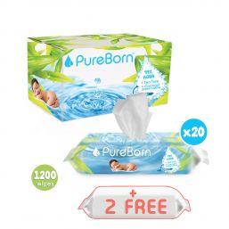 Tea Tree Wipes Bundle - 20 Packs + 2 Free